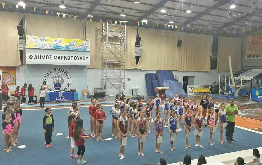 Το Πανελλήνιο Πρωτάθλημα Ενόργανης Γυμναστικής  διεξήχθη στο Μαρκόπουλο, σε πνεύμα γιορτής για τον Αθλητισμό.