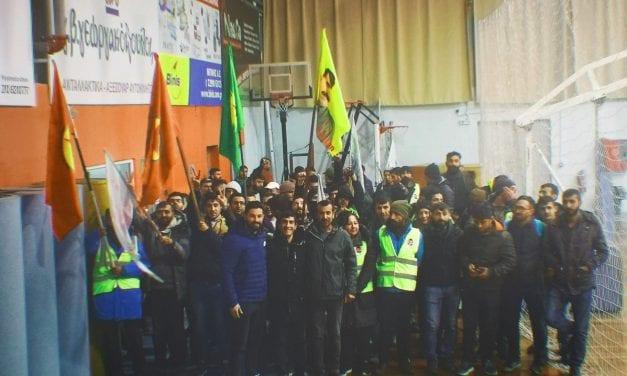 Φιλοξενία Κούρδων, στο Κλειστό Γυμναστήριο του Δημοτικού Σταδίου του Ν.Π.Δ.Δ. «Βραυρώνιος», από τον Δήμο Μαρκοπούλου.