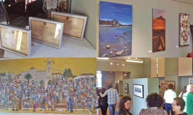 Με επιτυχία πραγματοποιήθηκαν τα Εγκαίνια της Εικαστικής Έκθεσης, με θέμα:  «Μέλλον + Παράδοση», στο Πολιτιστικό Κέντρο Μαρκοπούλου!