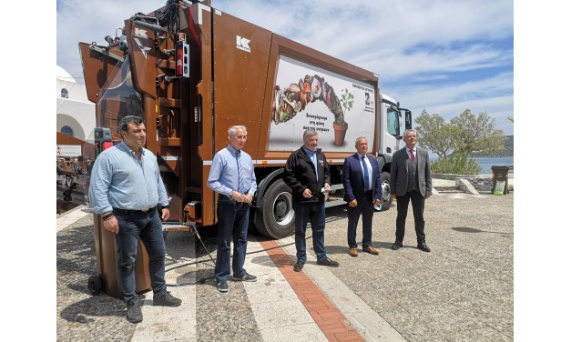 Νέο υπερσύγχρονο απορριμματοφόρο και εξοπλισμός ανακύκλωσης στο Δήμο Μαρκοπούλου από την Περιφέρεια Αττικής