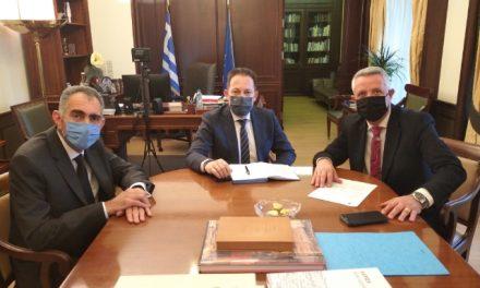 Σε εγκάρδιο κλίμα η συνάντηση του Δημάρχου Μαρκοπούλου με τον νέο Αν. Υπουργό Εσωτερικών Στέλιο Πέτσα