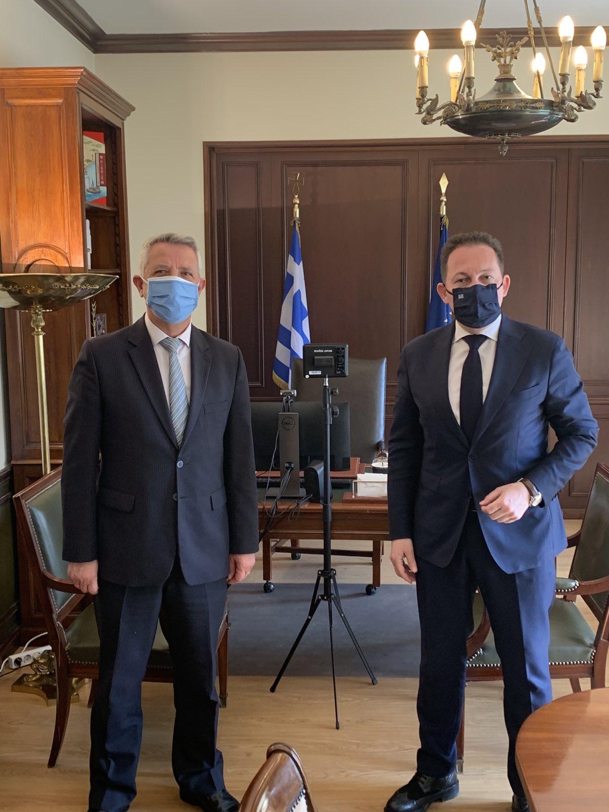 Νέα συνάντηση Δημάρχου Μαρκοπούλου με τον Αν. Υπουργό Εσωτερικών Στέλιο Πέτσα