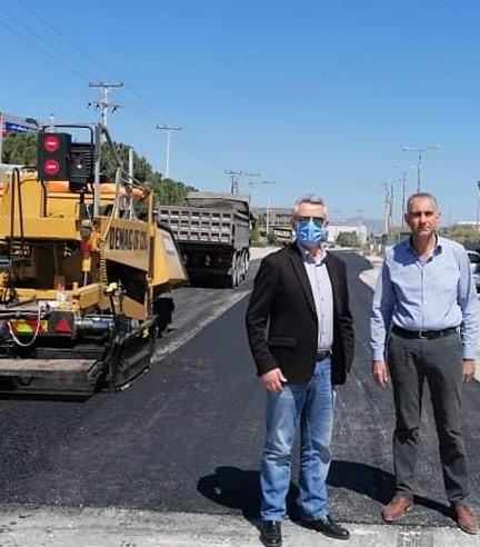Aποκατάσταση οδοστρώματος κεντρικής οδού περιοχής ΒΙΟΠΑ Μαρκοπούλου