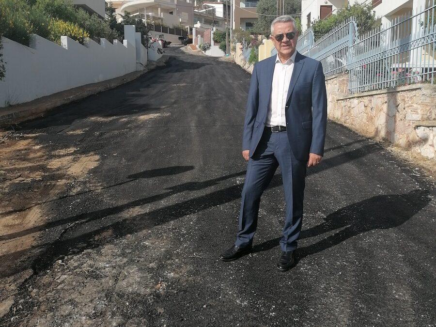 Ασφαλτόστρωση οδών Αγ. Νικολάου και Γιαννούλη Χαλεπά στο Πόρτο Ράφτη