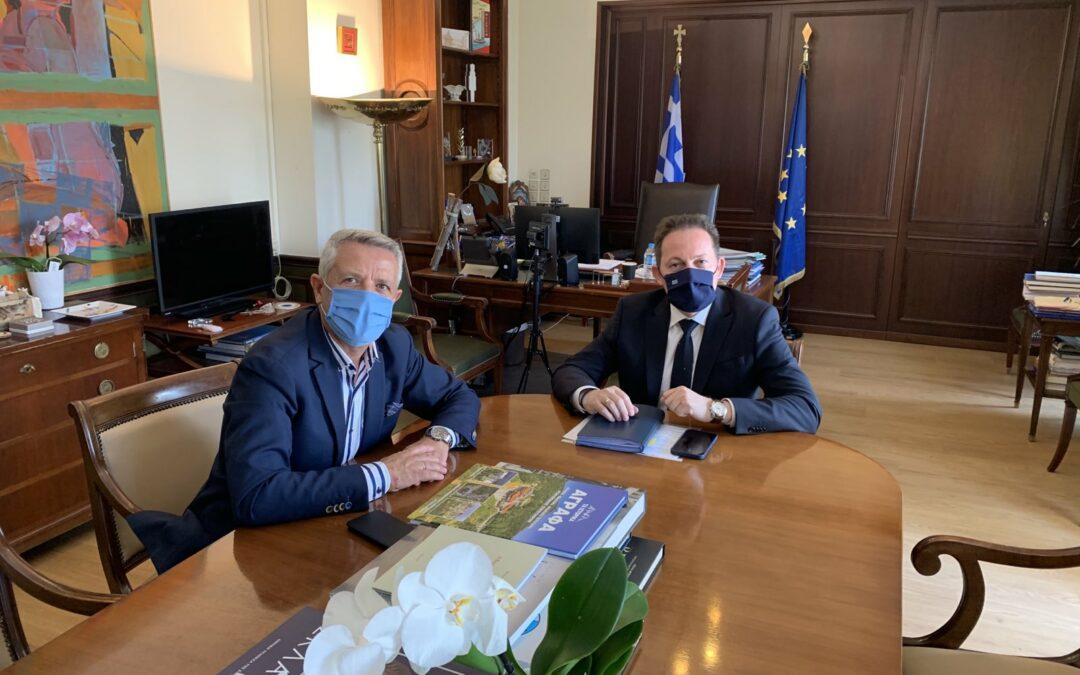 Τρίτη κατά σειρά συνάντηση του Δημάρχου Μαρκοπούλου με τον Αν. Υπουργό Εσωτερικών Στέλιο Πέτσα
