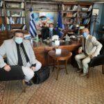 Νέα συνάντηση του Δημάρχου Μαρκοπούλου και του Προέδρου Λιμενικού Ταμείου Μαρκοπούλου με τον Υπουργό Ναυτιλίας